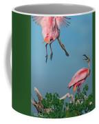 Spoonbills Greeting Coffee Mug
