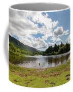 Spot The Swimming Dog In Derwnt Water Lake Coffee Mug