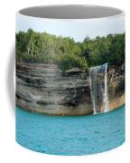 Spray Falls On The Water Coffee Mug