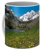 Spring At The Maroon Bells Coffee Mug by Cascade Colors