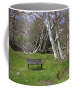 Spring Bench In Sycamore Grove Park Coffee Mug