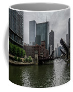 Spring Bridge Lift Scene In Chicago  Coffee Mug