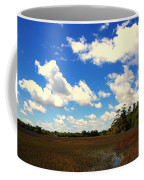 Spring Clouds Over The Marsh Coffee Mug