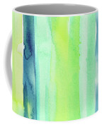 Spring Colors Stripes Pattern Vertical Coffee Mug
