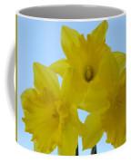 Spring Daffodils 2 Flowers Art Prints Gifts Blue Sky Coffee Mug