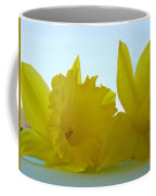 Spring Daffodils Flowers Art Prints Blue Skies Coffee Mug