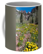 Spring Dandelion And Mountain Landscape Coffee Mug
