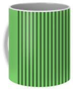Spring Green Striped Pattern Design Coffee Mug