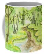 Spring Landscape, Watercolours Coffee Mug