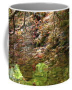 Spring Maple Leaves Over Japanese Garden Pond Coffee Mug