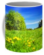 Spring Meadow With Green Grass Coffee Mug