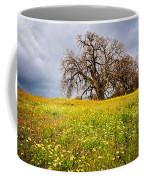 Spring Oak Tree And Wildflowers Coffee Mug