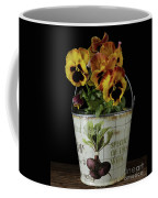 Spring Pansy Flowers In A Pail Coffee Mug
