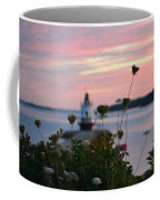 Pink Sky Flowers Coffee Mug