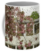 Spring Rain Outside The Window And Sakura Coffee Mug