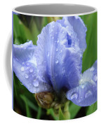 Spring Raindrops Blue Iris Flower Water Baslee Troutman Coffee Mug
