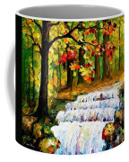 Spring Stream - Palette Knife Oil Painting On Canvas By Leonid Afremov Coffee Mug