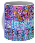 Spring Time In The Woods Abstract Oil Painting Coffee Mug
