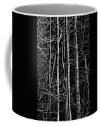 Spring Woods Simulated Woodcut Coffee Mug
