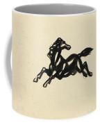 Springend Paard Met Het Hoofd Naar Achteren Gedraaid Coffee Mug