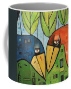 Springtime Lovebirds Coffee Mug