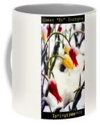 Springtime Tulips In The Snow Poster Print Coffee Mug