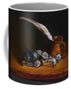 Spurs And Hand Made Pottery And Feather Coffee Mug
