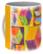 Square Cubes Abstract Coffee Mug