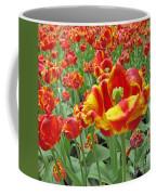 Square Yellow And Red Tulips Coffee Mug