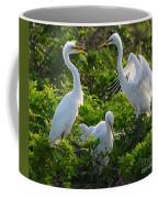 Squawk Of The Great Egret Coffee Mug