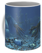 Squid-like Orthoceratites Attempt Coffee Mug by Walter Myers