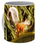 Squirrel In Palm Tree Coffee Mug