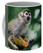 Squirrel Monkey Looking Up Coffee Mug
