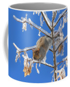 Squirrel On Icy Branches Coffee Mug