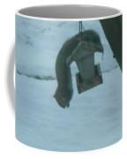 Squirrel Upside Down  Eating Coffee Mug