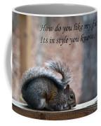 Squirrel With Fur Collar Coffee Mug