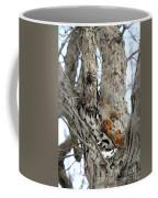 Squirrels At Play Vertically Coffee Mug