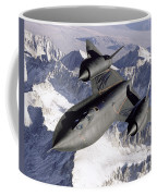 Sr-71b Blackbird In Flight Coffee Mug