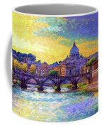 St Angelo Bridge Ponte St Angelo Rome Coffee Mug