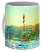St Augustine Lighthouse Waterscaped Coffee Mug