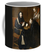 St Benedict Blesses The Bread Coffee Mug
