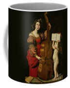 St. Cecilia With An Angel Holding A Musical Score Coffee Mug by Domenichino