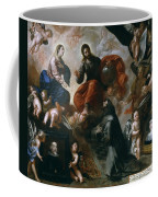 St Francis Of Assisi In The Portiuncula With  Donors Antonio Contreras And Maria Amezqueta Coffee Mug