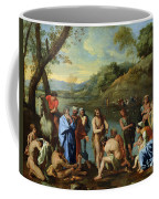 St John Baptising The People Coffee Mug by Nicolas Poussin