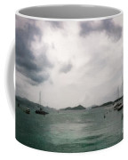 St John - Boats Islands Clouds Coffee Mug