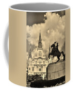 St. Louis Cathedral And Statue Coffee Mug