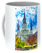St. Louis Cathedral - Paint Coffee Mug