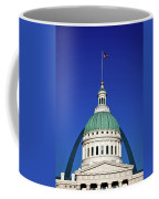 St Louis City Hall With Arch In Background Coffee Mug