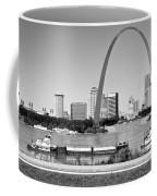 St Louis City Scape In Black And White Coffee Mug