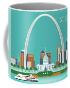 St. Louis Missouri Horizontal Skyline Coffee Mug
